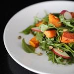 Roasted Butternut Squash & Apple Salad with Honey Dijon Dressing