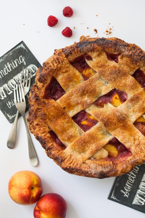 Raspberry & Peach Pie