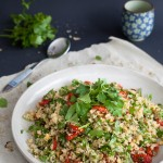 Roasted Tomatoes Parsley Quinoa Salad