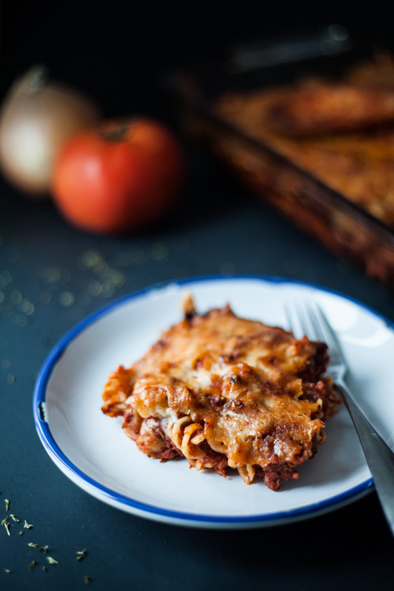 Bacon & Beef Baked Pasta