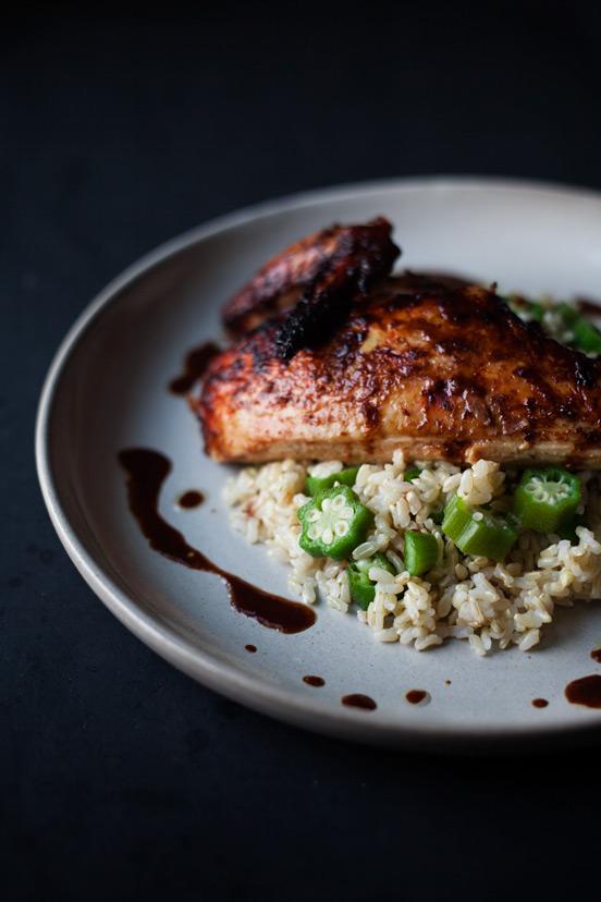 Jerk Chicken & Okra Rice