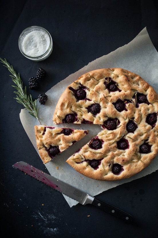 Rosemary and Blackberry Focaccia