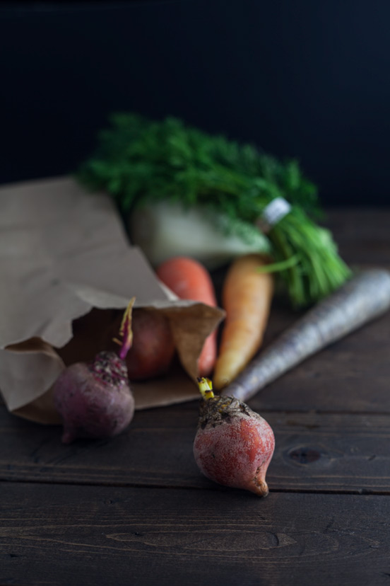 Beet Fennel and Heirloom Carrot Salad