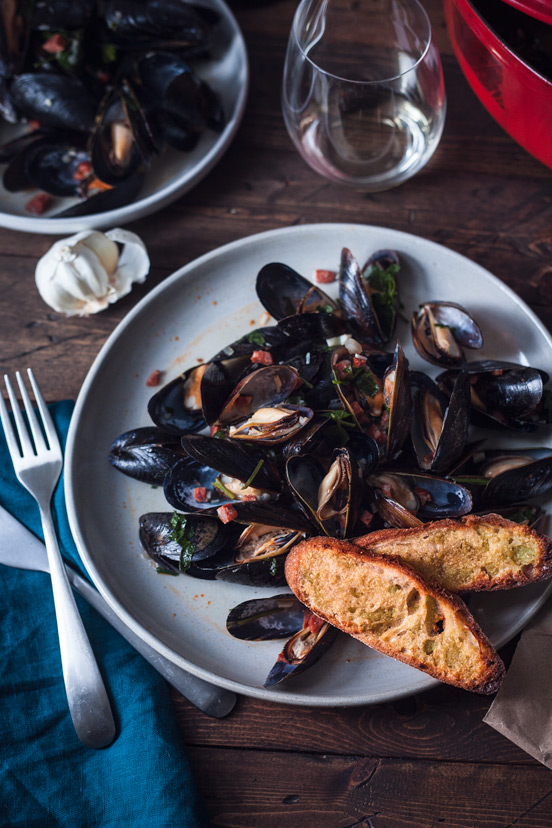 Mussels with Chorizo & Parsley
