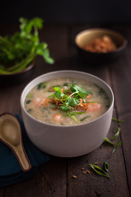 Shrimp & Bok Choy Congee
