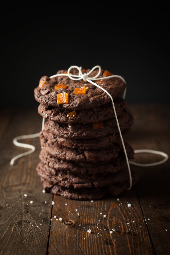 Candied Orange Peel & Chocolate Chunks Cookies